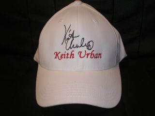 Keith Urban Cap Hat with Stitched Autograph