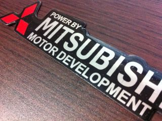 A230 Mitsubishi Logo Emblem Sticker Decal Aluminium Motor Lancer