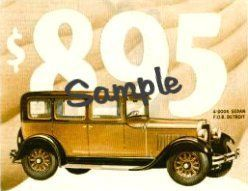 1928 Dodge Brothers Refrigerator Magnet Stickers Decals 2x3