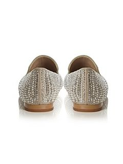 Steve Madden Concord Diamante Covered Loafer Pewter