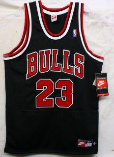 Michael Jordan Signed Autographed Black Nike Bulls Jersey UDA BAF