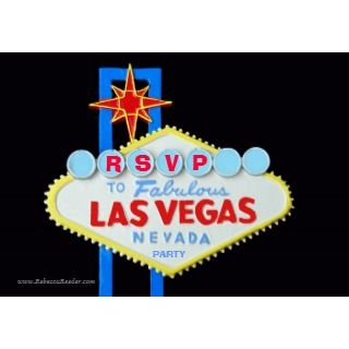 Las Vegas Welcome Sign and Hearts Envelope