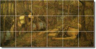 Top 20 Famous Landscape Painting 1 Ceramic Tile Murals