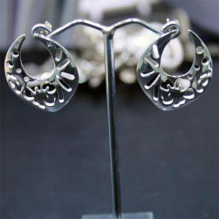 Kenzo Authentic Jewelry Pondicherry Range Silver Large Studs Earrings