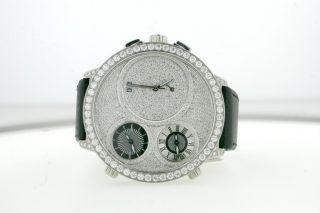Curtis Co Mens Big Time World Watch Steel Diamonds