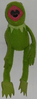 Muppets Kermit The Frog Stuffed Plush Figure Doll Vintage 1978 Sesame