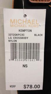 Michael Kors Black Nylon Kempton Crossbody Purse Bag MSRP $78
