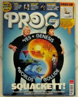 Classic Rock Prog CD August 2012 Genesis Squackett Yes 26 Rush New LP