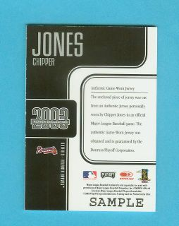 2003 Playoff Prestige Players Collection Chipper Jones Game Jersey
