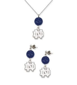 Notre Dame Fighting Irish Ovation Crystal Necklace Earrings
