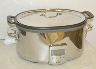 Clad Deluxe Stainless Steel and Aluminum Slow Cooker 7 Quart