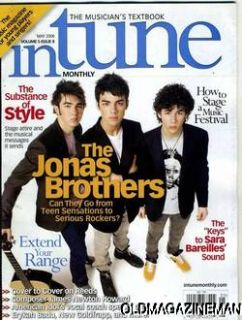 In Tune Magazine The Jonas Brother Nick Kevin Joe May 2008
