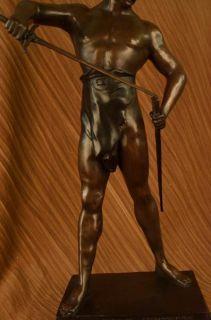 Ghengis Khan Bronze Statue Marble Art Deco Sculpture Limited Edition
