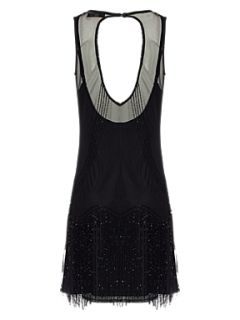 Jane Norman Mesh flapper dress Black