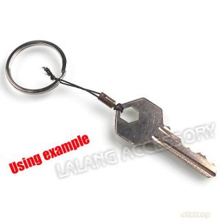 Rhodium Plated Charms Iron Key Ring Clasp Fit Keychains 30mm 160619