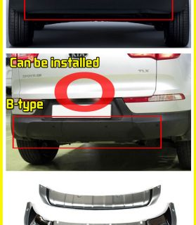 For 11 12 Kia Sporage R Fron Rear Bumper Diffuser Skid Plae 2P 1se