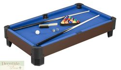 Pool Table Top Set 40L x 21 w Harvil Game Billiard Balls Cues Kids