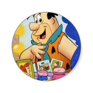 Fred Flintstone  In Mirror Sticker