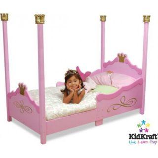KidKraft 76121 Princess Toddler Bed Pink Little Girl Cot