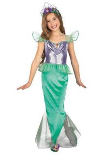 The Little Mermaid Child Costume Free Shoes Tiara