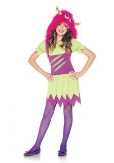 Wanda Green Purple Pink Monster Outfit Kids Halloween Costume