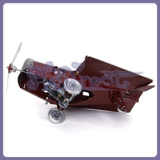 Folding Wings Airplane Wind Up Wheels Iron Air Plane Toy Model