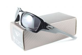 New Oakley 03 440 Fives Squared Polished Black Grey Sunglasses in