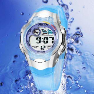Fashion New OHSEN Boys Kids Digital Alarm Waterproof Sport Gift Watch