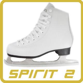 Spirit Ice Figure Skates Leather Kids Ladies UK Sizes