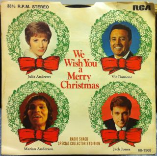 RADIO SHACK RCA PROMO we wish you a merry christmas 7 VG+ PRS 277