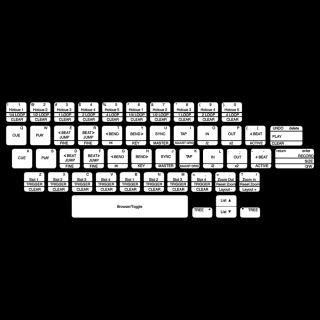Traktor Pro Shortcut Keyboard Stickers Skin Custom Protective Cover