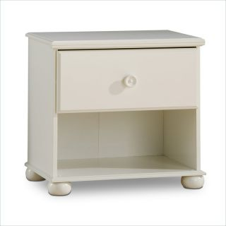 South Shore Sand Castle Kids Night Table Pure White Finish Nightstand