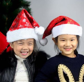 Santa Claus Costumes Merry Christmas Night Party Hat Cap Kids Children