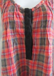 Patterson J Kincaid Red Plaid Camilla Tank Top Shirt XS