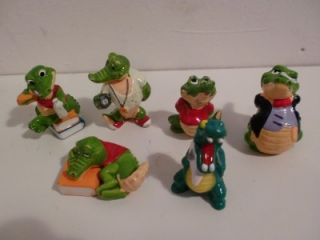Vintage Kinder Egg Surprise Toys Crazy Crocs Figures
