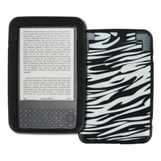 For  Kindle 3 Zebra Skin Soft Silicone Case Cover