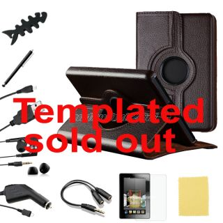 360° Swivel Case Cover Accessory Bundles for Kindle Fire 7