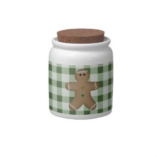 Country Gingerbread Man Candy Jar