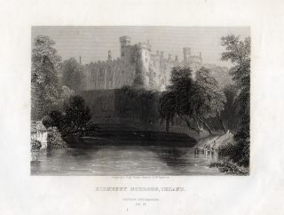 Antique Print Kilkenny Castle Ireland Payne 1845