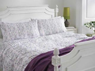 Mauve Floral Girls Discount Bedding 3 Sizes Duvet Cover Set