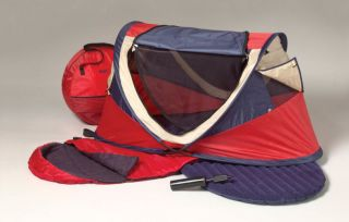 Kidco Peapod Plus Portable Infant Travel Bed Tent Red