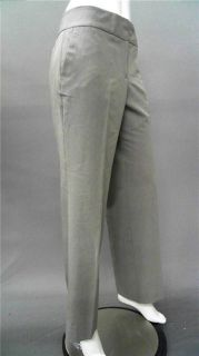 Kim Rogers Career Ladies Womens 12 Flat Front Dress Pants Gray Solid
