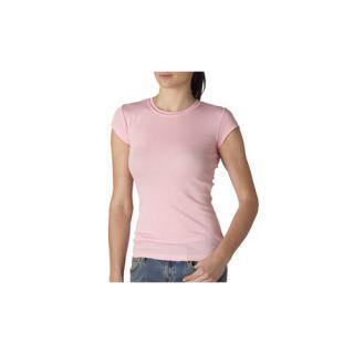 Bella Ladies Kimberley Sheer Rib Short Sleeve T Shirt 8701