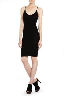 BCBG Max Azria Black Ribbed Sleeveless Layering Dress XS Extra Small