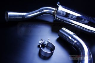 vw golf gti mk6 2.0t tfsi 09 12 turbo catback muffler 2.5 pipe / 3.5