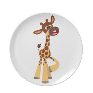 Cute Cartoon Baby Giraffe Plate