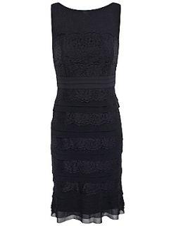 Alexon Black lace layer dress Black