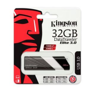 Kingston Technology 32GB DataTraveler Elite USB 3 0 Flash Memory Pen