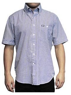 Raging Bull Seersucker Stripe dress shirt Navy
