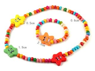 Wholesale Jewelry 6 Sets Kids Childrens Day Gift Bead Bracelets